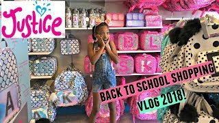 BACK TO SCHOOL SHOPPING VLOG JUSTICE 2018.