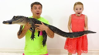 Nastya and dad have new pets