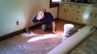 How to Cut In and Install A Vinyl Floor