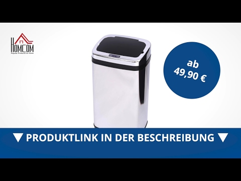 Homcom Edelstahl Mülleimer Abfalleimer IR Sensor (viereckig) - direkt kaufen!