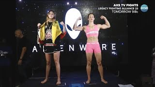 Sabina Mazo vs. Linsey Williams - Weigh-in Face-Off - (LFA 23: Krantz vs. Nakashima) - /r/WMMA