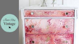 How To Paint Pour On Furniture | Dresser Paint Pour