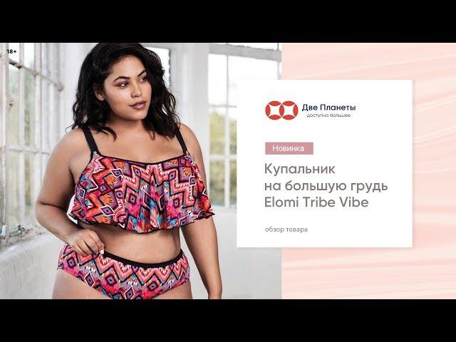 Видео Купальник (бюст) ELOMI TRIBE VIBE 7573, Черный c красным