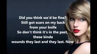 Taylor Swift   Bad Blood Ft. Kendrick Lamar Lyrics