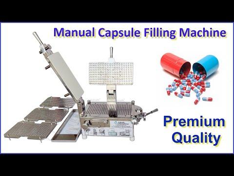 Manual 300 Holes Capsule Filling Machine