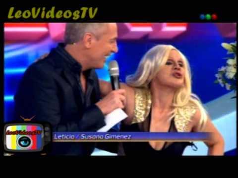 Leticia Bredice es Susana Gimenez en Tu Cara me Suena 3 #GH2015 #GranHermano