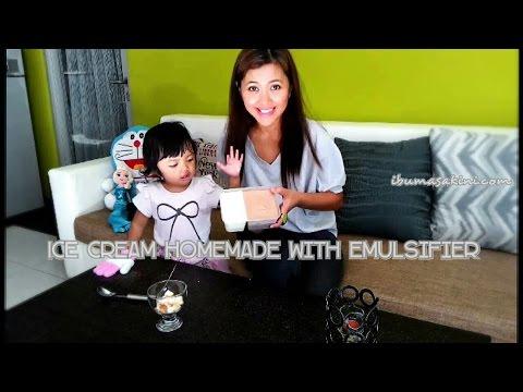 Video Resep dan cara membuat es krim rumahan dengan SP | How to make ice cream homemade with emulsifier