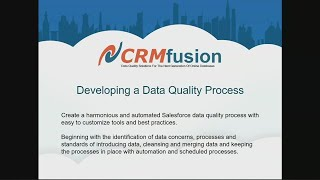 Developing an Automated Salesforce Data Quality Process