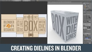 Creating Dielines for a Box in Blender