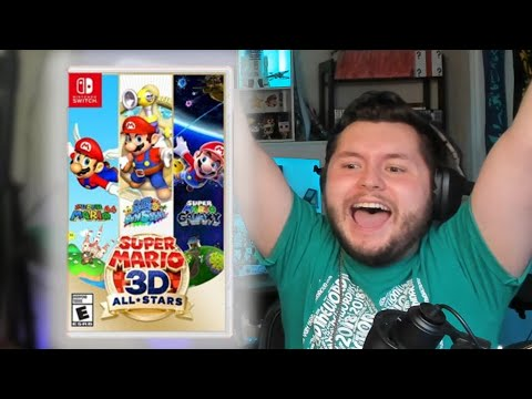 SUPER MARIO 3D ALL STARS COLLECTION REACTION!