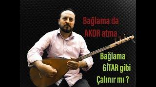 Bağlama Gitar Gibi çalınabilir Mi? , Bağlamada Ritimli Akor Nasıl Yapılır
