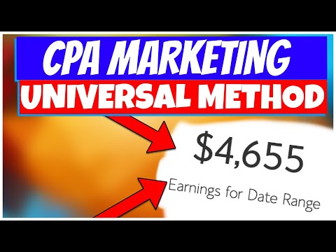 $50-500/Day with CPA Affiliate Marketing 2021 | COMPLETE COURSE FOR BEGINNERS (WORLDWIDE METHOD)