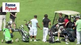 One Direction play golf with JLS