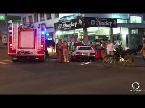 Duas pessoas ficam feridas em acidente em Francisco Beltrão