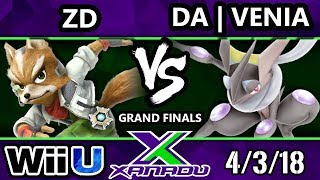 S@X 244 Smash 4 - ZD (Fox) Vs. DA | Venia (Greninja) - Wii U Grand Finals
