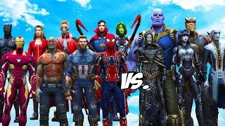 AVENGERS & GUARDIANS OF THE GALAXY VS THANOS & BLACK ORDER - INFINITY BATTLE