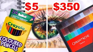 CHEAP VS EXPENSIVE ART SUPPLIES | Drawing Realism With Colored Pencils