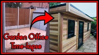 Garden Office [ Man Cave / Game Room ] Timelapse - PART 1: Build