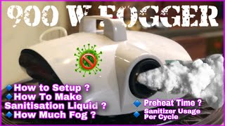 How to Use 900 Watt Disinfection Fog Machine / Turtle Fogger / Atomizer / Stage Smoke Setup & Review