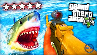 "GTA 5 Funny Moments - ""SHARK ATTACK!"" - (Grand Theft Auto V PS4 Gameplay)"