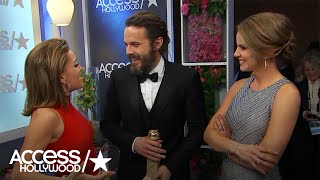 Golden Globes Backstage With Winners Casey Affleck & Tracee Ellis Ross