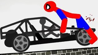 STICKMAN MOTORCYCLE Vs SPIDERMAN - Stickman Destruction 5 Annihilation Gameplay - Part 2