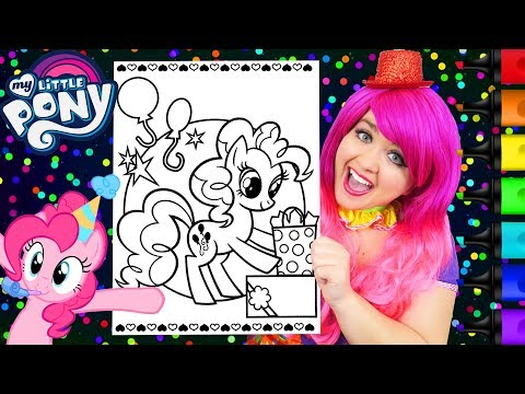 Coloring Pinkie Pie Birthday My Little Pony Coloring Page ...