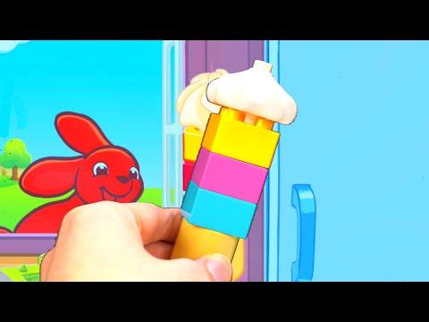 Let's Make a Duplo Lego Block Ice Cream Shop!