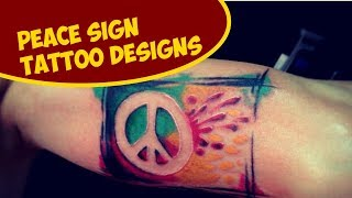 Cool Peace Sign Tattoo Designs Ideas