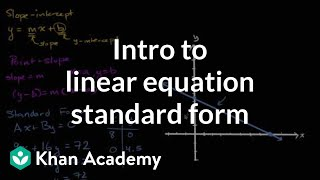 Standard Form For Linear Equations