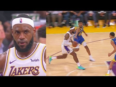 LeBron James Bullies Entire Warriors & Shocks Crowd With Crazy Passes! Warriors vs Lakers