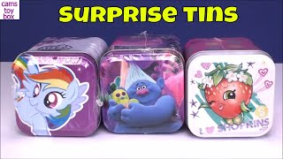 Surprise Toys Mini Tins My Little Pony Shopkins Trolls Opening
