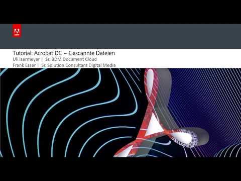 Tutorial: Acrobat DC - OCR Texterkennung mit Acrobat DC