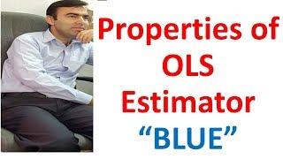 Properties of Ordinary least square Estimator | BLUE | Best Linear Unbiased efficient Estimator