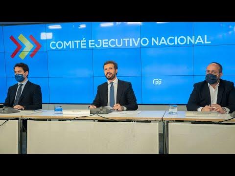 Intervención de Pablo Casado en la reunión del Comité Ejecutivo Nacional del PP