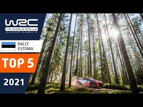 WRC 2021 第7戦ラリー・エストニア TOP5ハイライト動画