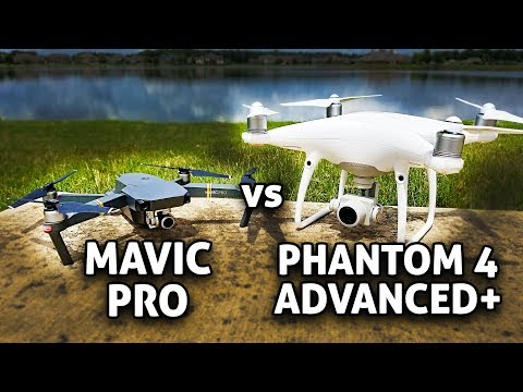 DJI Mavic Pro vs Phantom 4 Advanced Plus!! CAMERA Test Comparison (4K)