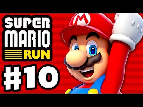 Super Mario Run Walkthrough - Part 7 - Peach ! World 1 All Purple