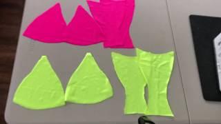 Clear Strap Thong Bikini || Reversible Bikini|| Summer 19 Easy DIY
