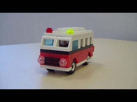 Делаем Скорую помощь (модифицированная модель Lego Creator set 40079 )