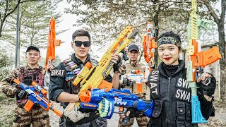 LTT Nerf War : SEAL X Warriors Nerf Guns Fight Criminal Group Dr.Lee Crazy New Weapon Thief