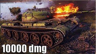 Т-62А бой за ТРИ ОТМЕТКИ 🌟 10000 dmg 🌟 World of Tanks лучший бой на ст СССР