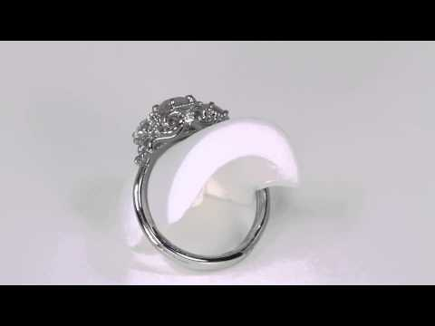 Platinum Diamond Ring .52 Carat Designed By Christopher Michael