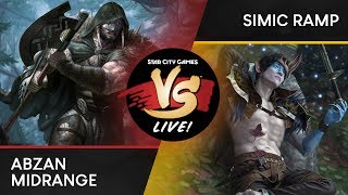 VS Live! | Abzan Midrange VS Simic Ramp | Standard | Match 1