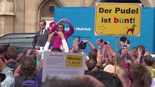 Anti-AFD Demo gegen Beatrix von Storch in München
