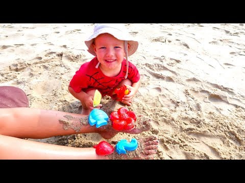 Andrei Playing with Sand and other Kids Toys