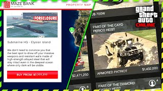 The Cayo Perico Heist DLC | New PROPERTY Price, FULL ISLAND MAP & NEW MILITARY VEHICLES (GTA Online)