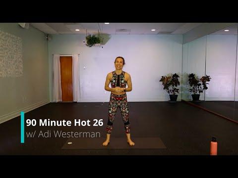 90 Minute Hot 26 Yoga Class Full Length | Hot Yoga Asheville
