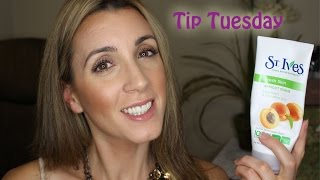 Tip Tuesday - Exfoliating with St. Ives Apricot Scrub