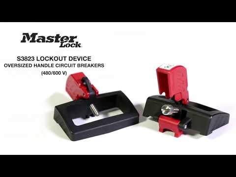 Screen capture of Master Lock Safety S3823 - Grip Tight™ Plus Circuit Breaker Lockout